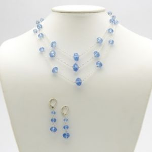 Blue Austrian Crystal Jewelry Set