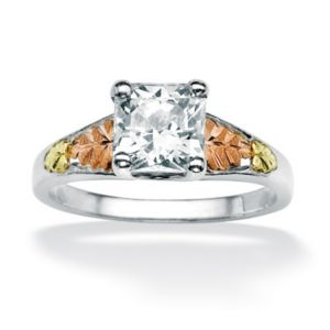 Princess-Cutcubic zirconia Ring