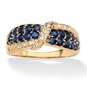 Sapphire & Diamond Accent Ring