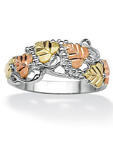Multi-Leaf and Vine Ring by PalmBeach Jewelry
