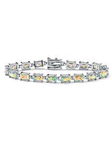 Aurora Borealiscubic zirconia Tennis Bracelet by PalmBeach Jewelry