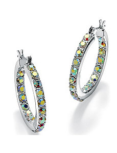 Aurora Borealis Crystal Earrings by PalmBeach Jewelry