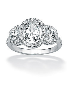 Oval & Roundcubic zirconia Ring by PalmBeach Jewelry