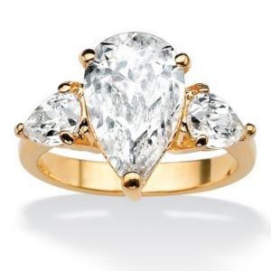 Pear-Shapedcubic zirconia Ring