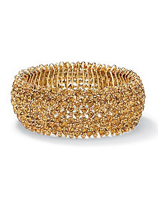 Multi-Crystal Stretch Bracelet by PalmBeach Jewelry