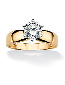 Cubic Zirconia Solitaire Ring by PalmBeach Jewelry
