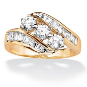 Cubic Zirconia Swirl Ring