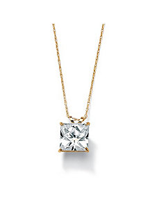 Princess-Cutcubic zirconia Pendant by PalmBeach Jewelry