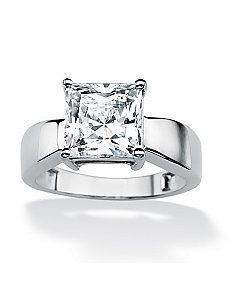 Princess-Cutcubic zirconia Ring by PalmBeach Jewelry