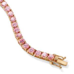 """Pinkcubic zirconia Bracelet 8-1/2"""""""