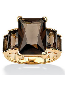 Smoky Quartz Step Ring by PalmBeach Jewelry