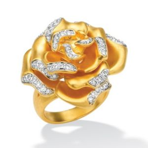 Cubic Zirconia Multi-Petal Ring