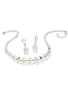 Crystal Necklace and Earrings Set by PalmBeach Jewelry