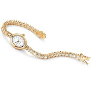 Cubic Zirconia Tennis Bracelet Watch