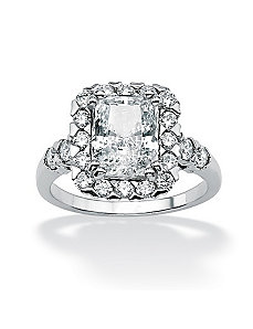 Octagon-Shapedcubic zirconia Ring by PalmBeach Jewelry