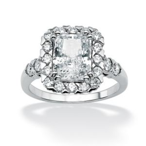 Octagon-Shapedcubic zirconia Ring