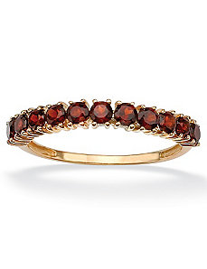 Stackable Garnet Ring by PalmBeach Jewelry