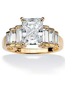 Cubic Zirconia Step Ring by PalmBeach Jewelry