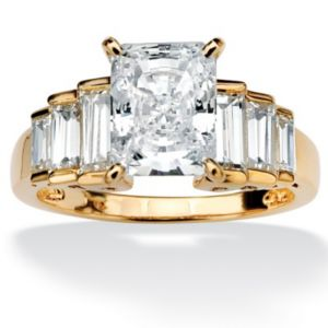 Cubic Zirconia Step Ring