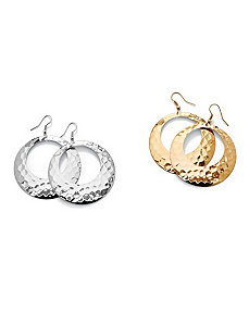 Set of Two Pairs of Hoop Earrings by PalmBeach Jewelry