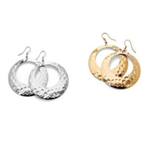 Set of Two Pairs of Hoop Earrings