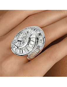 Cubic Zirconia Concentric Ring by PalmBeach Jewelry