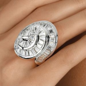 Cubic Zirconia Concentric Ring