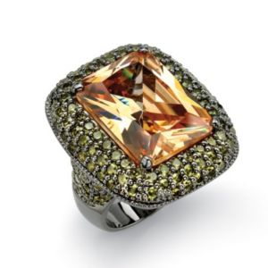 Champagnecubic zirconia Ring