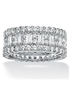 Cubic Zirconia Bead-Style Band by PalmBeach Jewelry