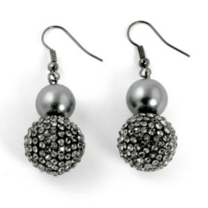 Simulated Pearl/Crystal Earrings