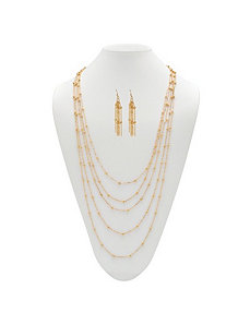 Multi-Chain Beaded Jewelry Set by PalmBeach Jewelry