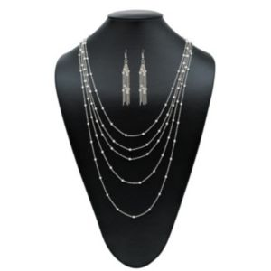 Multi-Chain Beaded Jewelry Set