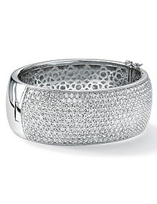 Cubic Zirconia Bangle Bracelet by PalmBeach Jewelry