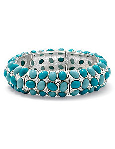 Simulated Turquoise Bracelet by PalmBeach Jewelry