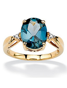 London Blue Topaz Ring by PalmBeach Jewelry