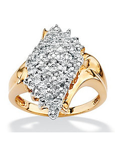 Diamond Cluster Spray Ring by PalmBeach Jewelry