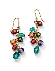 Multi-Colored Glass Drop Earrings by PalmBeach Jewelry