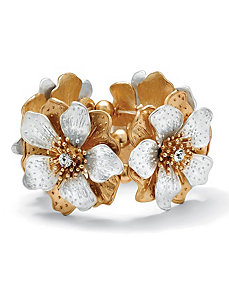 Multi-Petal Flower Stretch Bracelet by PalmBeach Jewelry