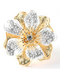 Multi-Petal Flower Stretch Ring by PalmBeach Jewelry