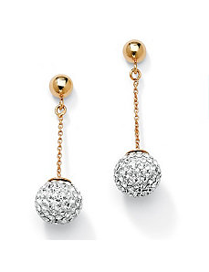 Multi-Crystal Ball Drop Earrings by PalmBeach Jewelry