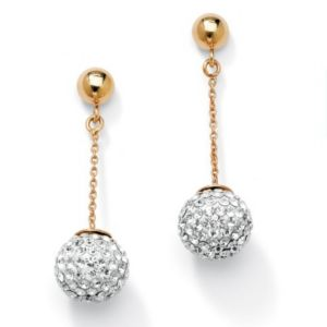 Multi-Crystal Ball Drop Earrings