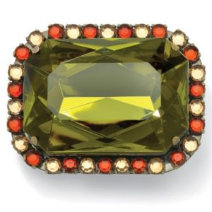 Olive/Champagne/Amber Lucite Pin