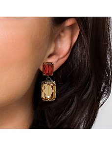 Champagne/Amber Lucite Earrings by PalmBeach Jewelry