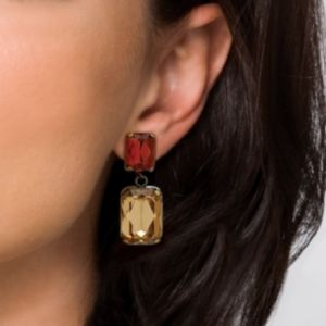 Champagne/Amber Lucite Earrings