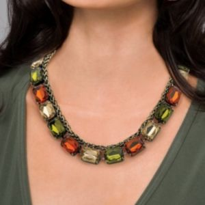 Olive/Champagne/Amber Necklace