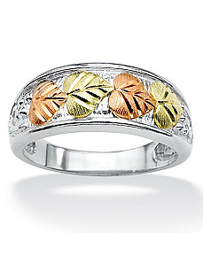Leaf Motif Ring by PalmBeach Jewelry