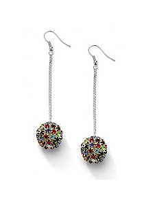 Multi-Colored Crystal Earrings by PalmBeach Jewelry
