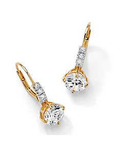 Roundcubic zirconia Earrings by PalmBeach Jewelry