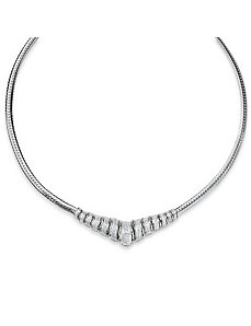 Diamond Chevron Necklace by PalmBeach Jewelry