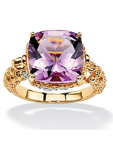 Rose Amethyst Ring by PalmBeach Jewelry